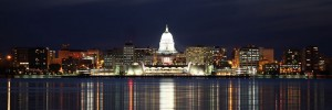 Madison Wisconsin at Night