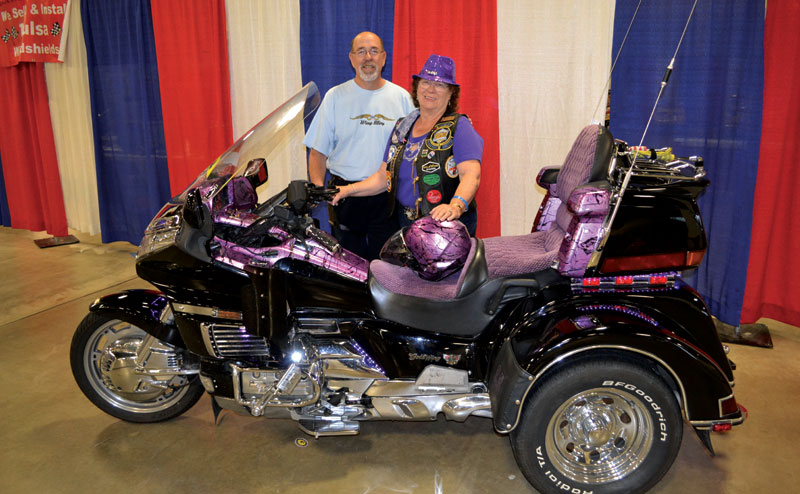 Mike and Carla Rubin with Dressed up Trike