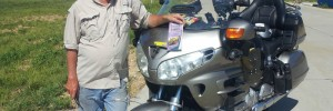 Joe Sparrow and his high-mileage Gold Wing