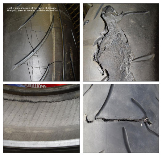 Tire treads and damage
