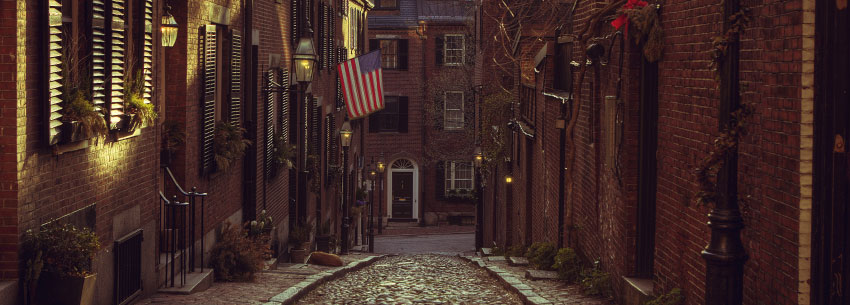Colonial Street in Boston