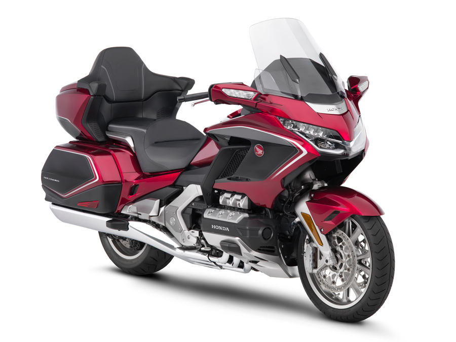 ThreeQuarter view of Red and Black 2018 Honda Gold Wing